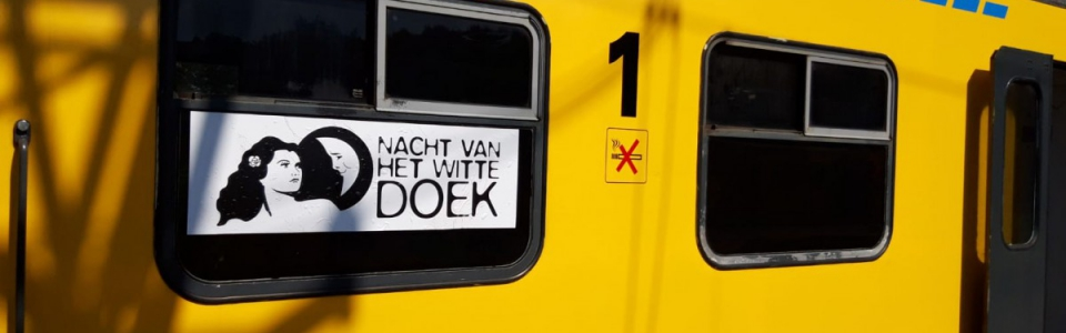 trein met sticker