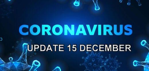 Coronavirus update – dinsdag 15 december